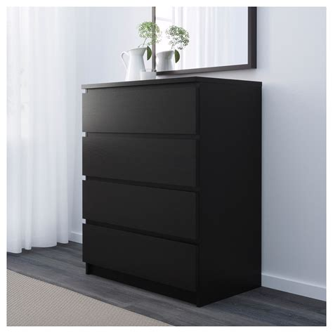 ikea malm malm chest of 4 drawers black brown 80x100 cm ikea
