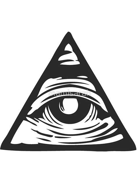 one eye illuminati quot illuminati eye quot stickers by mamisarah redbubble