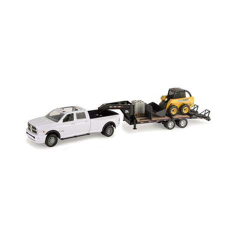 toy pickup truck and boat trailer john deere 1 16 scale big farm truck with trailer and skid