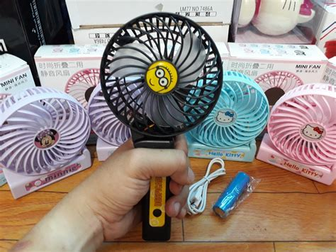 Kipas Angin Mini Karakter jual kipas angin mini gagang lipat karakter mini fan di