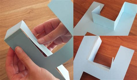 How To Make Paper Letters 3d - how to make a 3d letter of paper
