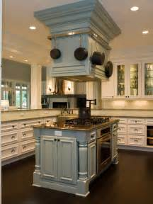 Center Island Kitchen by Range Hood Over Kitchen Island Hgtv