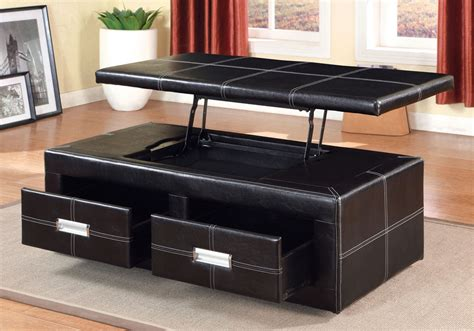 Padded Coffee Table With Storage Ostel Storage Lift Top Bench Coffee Table 2 Drawers Padded
