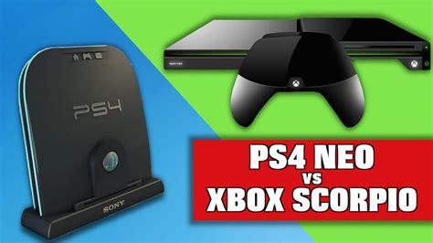 xbox neo ps4 neo vs xbox scorpio specs comparison details more