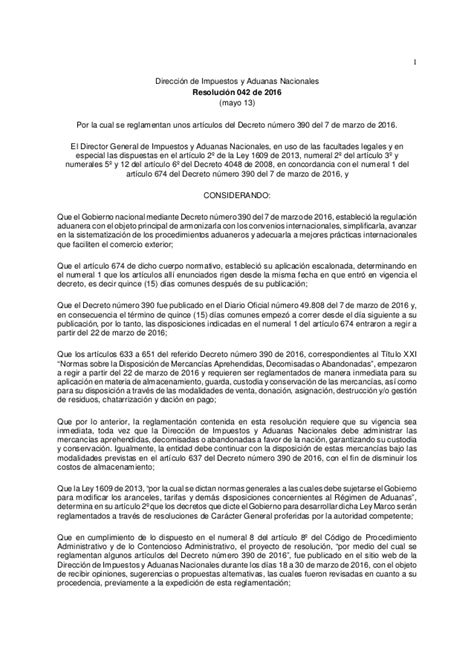 resolucion dian 2016 personal resolucion 42 2016 dian