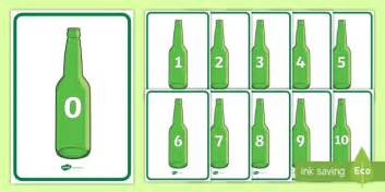 Green Bottles ten green bottles display posters number rhyme green