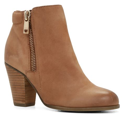 ankle boots aldo janella zip ankle boots in brown lyst