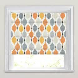 Patterned Blinds Orange Grey Stone Amp White Funky Patterned Roman Blinds