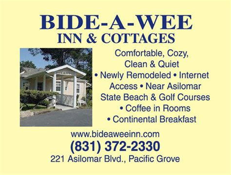 bide a wee inn and cottages monterey inn and cottages