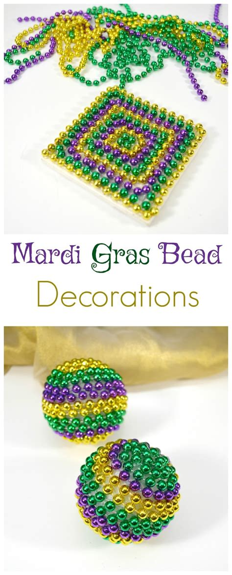 How To Make Mardi Gras Decorations by With 4 Boys Diy Mardi Gras Bead Decorations