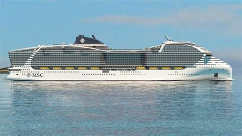 largest cruise ship being built msc cruises orders lng powered world class cruise ships