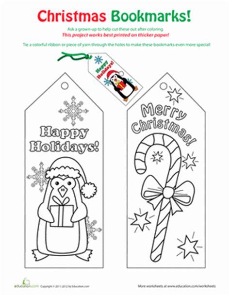 printable educational bookmarks christmas bookmarks worksheet education com