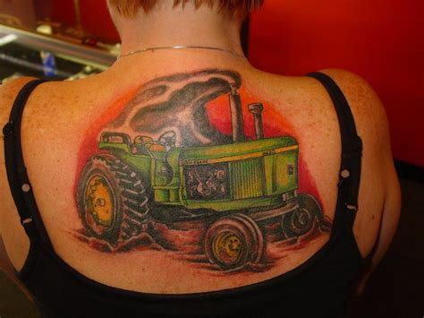 awesome tractor tattoo