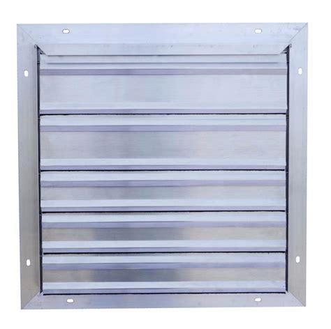 exhaust fan with shutter 16 quot snap fan exhaust shutter snap fan solar national air