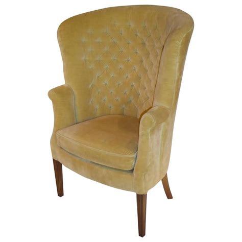 Velvet High Back Chair by Architectural High Back Tufted Velvet Wingback Chair At