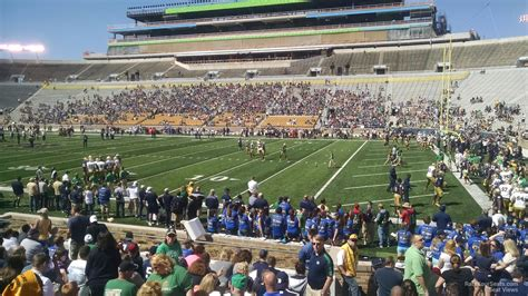 section six football notre dame stadium section 6 rateyourseats com