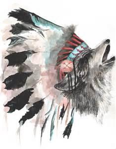 wolf with headdress by taylorfelt on deviantart