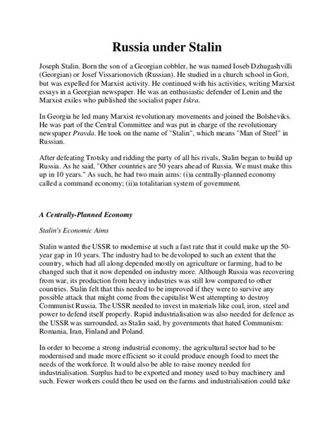 Stalin Essay by Stalin Totalitarianism Essay