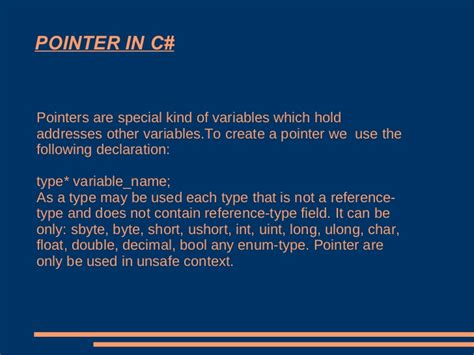Ppt of c++ vs c# C- Pointer Indirection