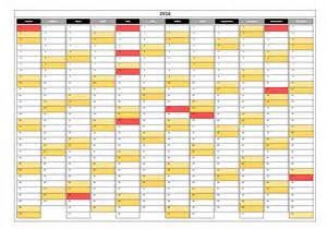 Luxembourg Calendario 2018 Calendrier 2016 2017 Modifiable Calendar Template 2016
