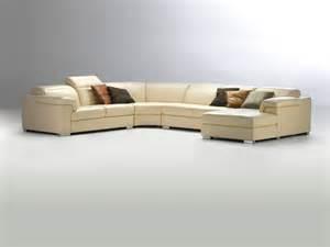 Genuine Leather Sectional Sofas Viva Genuine Leather Sectional Sofa Domicil