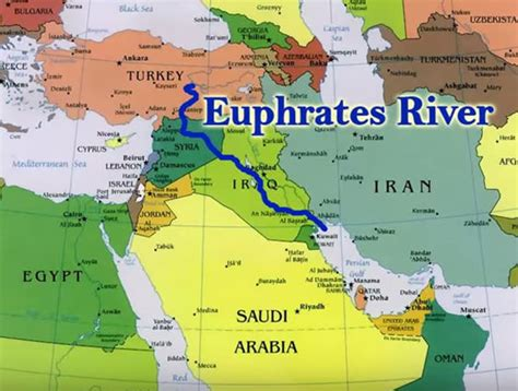 middle east map euphrates river bible predicted rise of would spark war and global