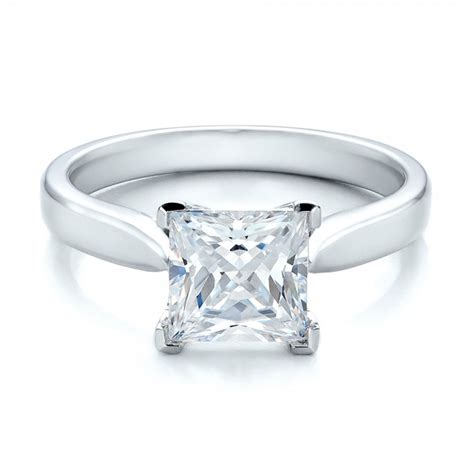 princess cut engagement rings contemporary solitaire princess cut engagement