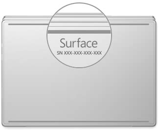 find the serial number on surface