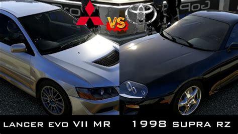 Kaos Toyota Lancer Evolution forza 5 1998 supra rz vs 2004 lancer evo viii mr