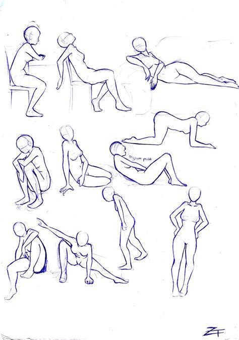 Anime Poses by 1000 Images About Illustrated Poses For Females On