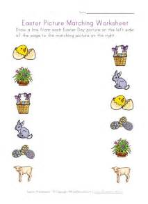 easter picture matching worksheet