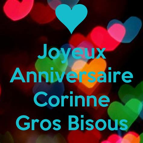 Wall Stickers Music joyeux anniversaire corinne gros bisous keep calm and