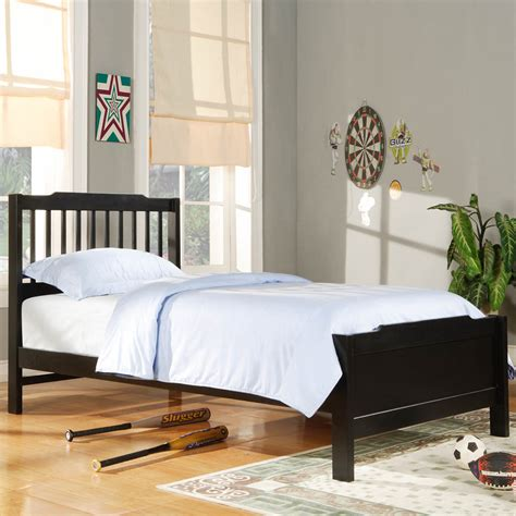 black kids bedroom furniture kids bed simone black twin size slatted headboard bed