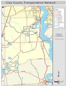 map of clay county florida clay county road network color 2009
