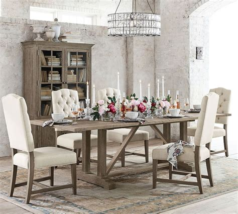 livingston extending dining table gray wash pottery