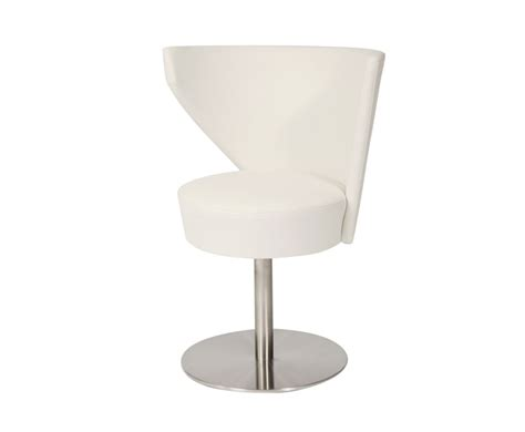 Swivel Chair Dining Anwick White Faux Leather Swivel Dining Chair