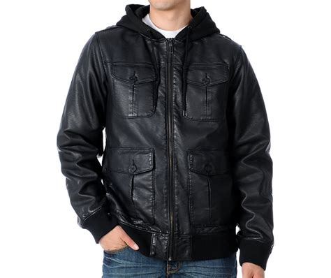 hooded leather jacket mens dravus nuance black leather mens hooded bomber jacket gift ideas