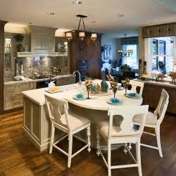 loving this island dining table combo kitchen ideas
