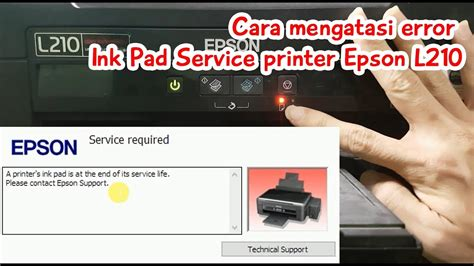 reset epson l355 ink printer service reset waste ink pad printer epson l210