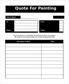 Template For Painting word estimate template 5 free word documents