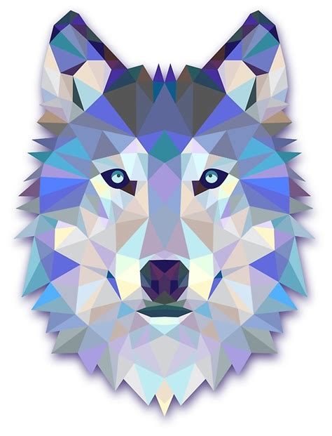 Owl Decor quot triangle wolf quot art prints by hndra redbubble