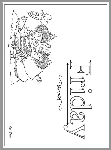 hebrew days of the week printable coloring pages coloring