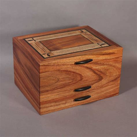 Handcrafted Jewellery Boxes - koa jewelry boxes with handcrafted inlay