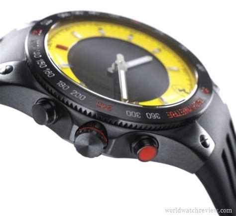 Scuderia Rubber Black Yellow Grade Aaa time chronograph anadigit world review