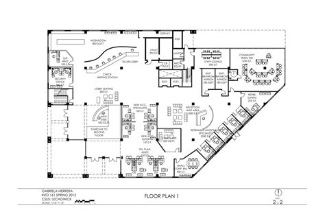 commercial bank floor plan preliminary floor plans and reflected ceiling plans gh