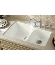 White Sinks For Kitchen Kohler K 5931 4u 0 Executive Chef Cast Iron Bowl