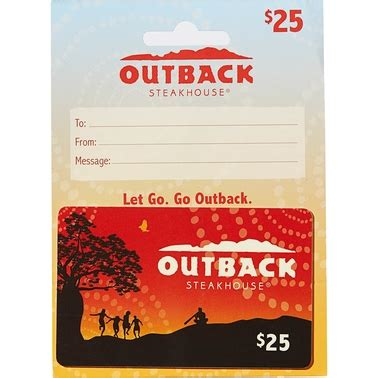 Outback Gift Card Balance - outback steakhouse gift card entertainment dining gifts food shop the exchange