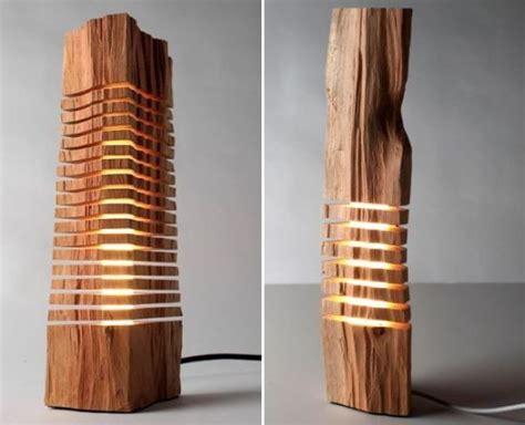 wooden decor minimalist split wood lights look more like an artistic