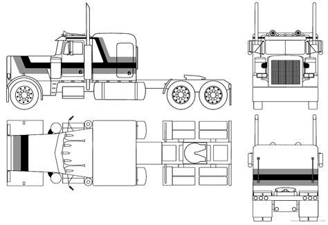 the gallery for gt peterbilt trucks drawings