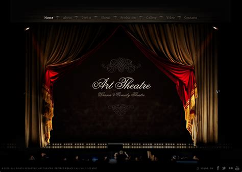 theater template drama comedy theatre html5 template 300111610 on behance